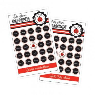 Ladybug Party Bingo - Set of 16