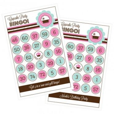 Cupcake Party Bingo - Set of 16