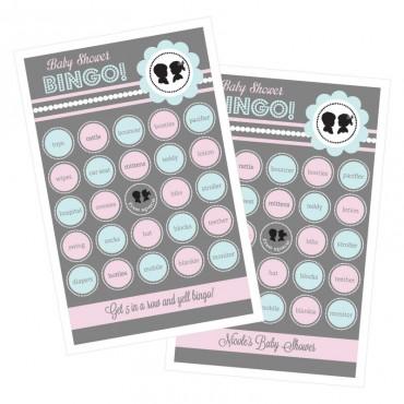 Gender Reveal Party Bingo - Set of 16