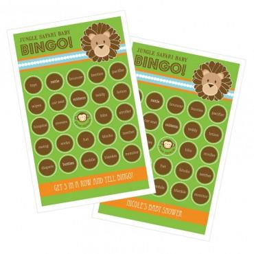 Jungle Safari Bingo - Set of 16