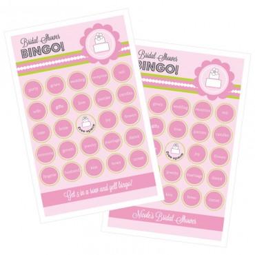 Pink Cake Bingo - Set of 16
