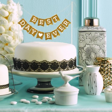 Personalized Foil Cake Bunting Banners