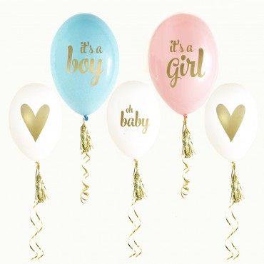 Gold BABY SHOWER Balloons - Set of 3