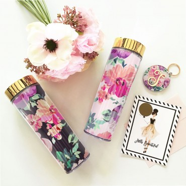 Blank Floral Tall Tumblers