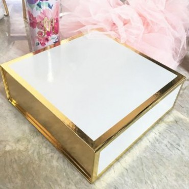 Blank White and Gold Gift Boxes