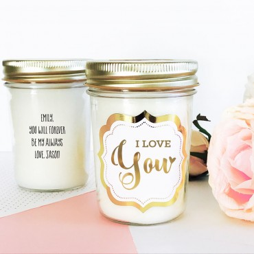 Theme Mason Jar Candle - Gold Foil
