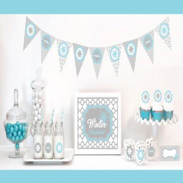 Winter Wonderland Party Decorations Starter Kit