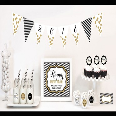 New Years Eve Party Decorations Starter Kit