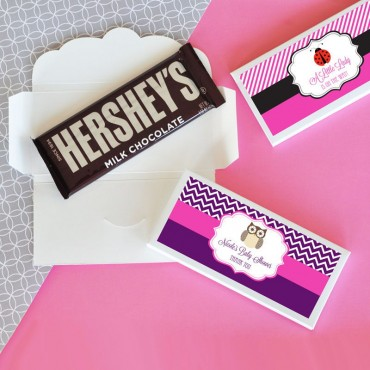 Personalized Baby Animal Candy Wrapper Covers - 24 Pieces