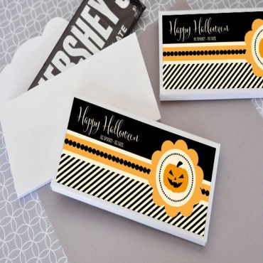 Personalized Classic Halloween Candy Wrapper Covers - 24 Pieces