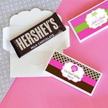 Personalized MOD Theme Silhouette Candy Wrapper Covers - 24 Pieces
