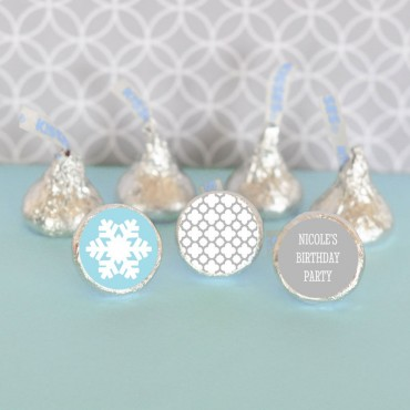 Personalized Winter Wonderland Party Hershey's® Kisses Labels Trio - Set of 108
