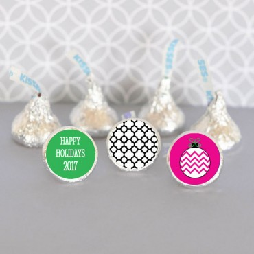 Personalized Holiday Party Hershey's® Kisses Labels Trio - Set of 108