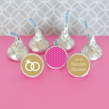 Personalized MOD Theme Silhouette Hershey's Kisses Labels Trio - Set of 108