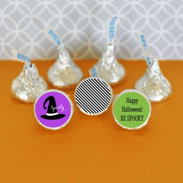 Personalized Spooky Halloween Hershey's® Kisses Labels Trio - Set of 108