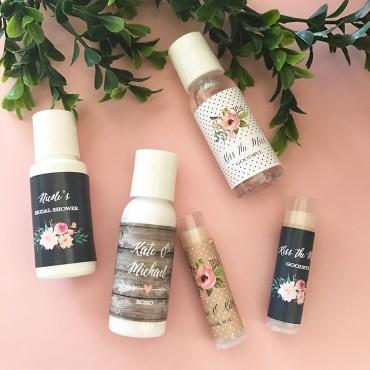 Personalized Floral Garden Hand Sanitizer - 24 Pieces