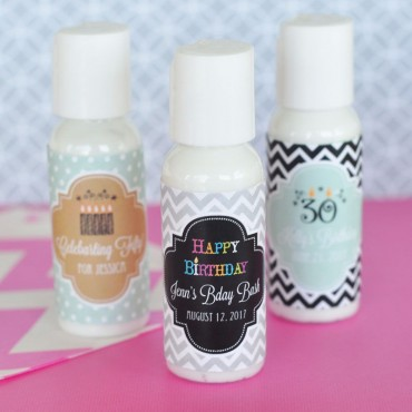 Personalized Birthday Lotion - 24 Pieces