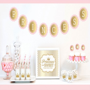 Gold & Glitter Princess Party Decor Kit