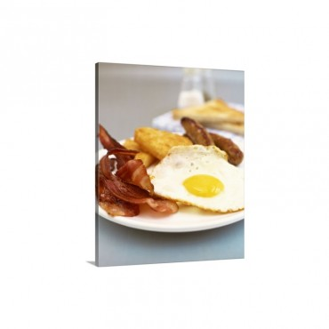 Eggs Bacon Hashbrown And Sausage Wall Art - Canvas - Gallery Wrap