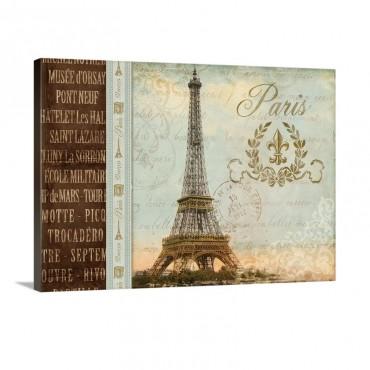 Eiffel Tower I Wall Art - Canvas - Gallery Wrap