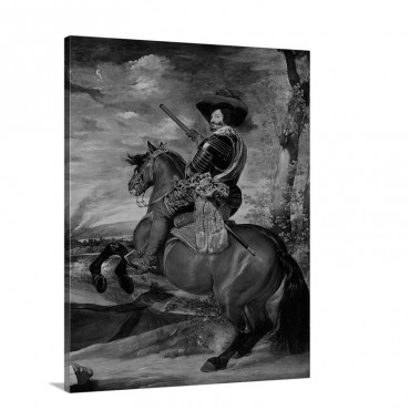Equestrian Portrait Of Don Gaspar De Guzman Count Duke Of Olivares 1634 Wall Art - Canvas - Gallery Wrap