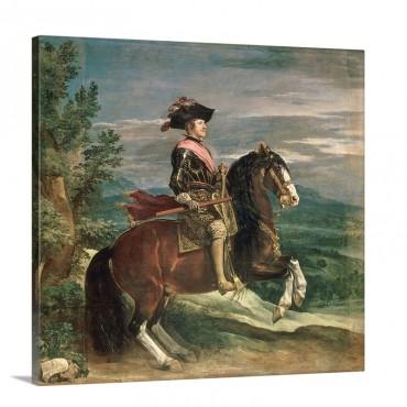 Equestrian Portrait Of Philip I V 1605 65 C 1636 Wall Art - Canvas - Gallery Wrap