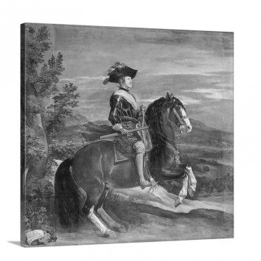 Equestrian Portrait Of Philip I V 1605 65 C 1636 Wall Art - Canvas - Gallery Wrap