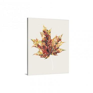 Fall Mosaic Leaf I I I Wall Art - Canvas - Gallery Wrap