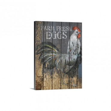 Farm Fresh Eggs Sign Wall Art - Canvas - Gallery Wrap