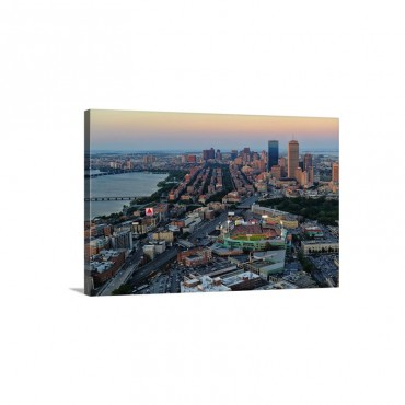 Fenway Park As The Boston Red Sox Play The Detroit Tigers On July 30 2012 Wall Art - Canvas - Gallery Wrap