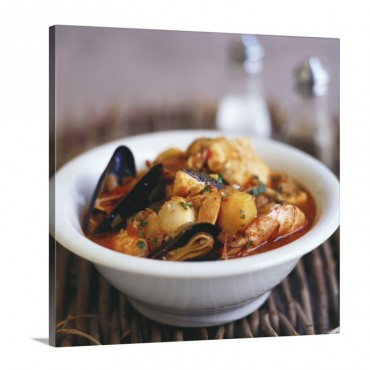 Fish Stew With Potatoes France Wall Art - Canvas - Gallery Wrap
