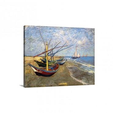 Fishing Boats On The Beach At Saintes Maries De La Mer Wall Art - Canvas - Gallery Wrap