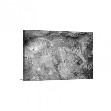 Five Thousand Year Old Cave Paintings In Lass Geel Caves Somaliland Africa Wall Art - Canvas - Gallery Wrap