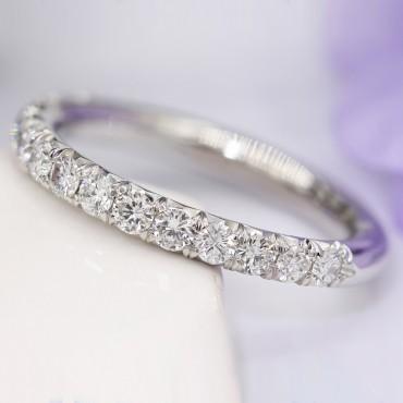 French Setting Diamond Wedding Band