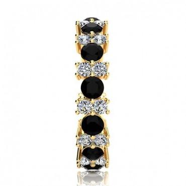 Garland Black Diamond Ring - Yellow Gold