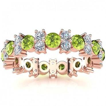 Garland Peridot And Diamond Ring - Rose Gold