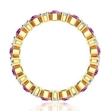 Garland Tourmaline And Diamond Ring - Yellow Gold