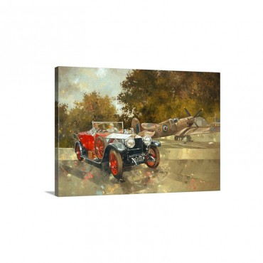 Ghost And Spitfire Wall Art - Canvas - Gallery Wrap
