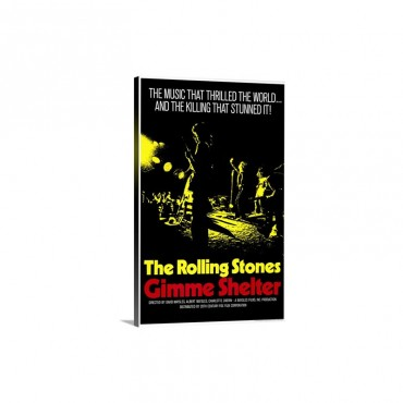 Gimme Shelter Rolling Stones 1971 Wall Art - Canvas - Gallery Wrap