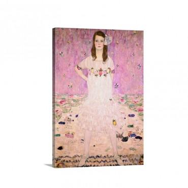 Girl In White By Gustav Klimt Wall Art - Canvas - Gallery Wrap