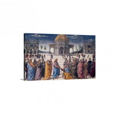 Giving Of The Keys To St Peter from The Sistine Chapel 1481 Wall Art - Canvas - Gallery Wrap