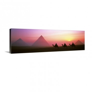 Giza Pyramids Egypt Wall Art - Canvas - Gallery Wrap