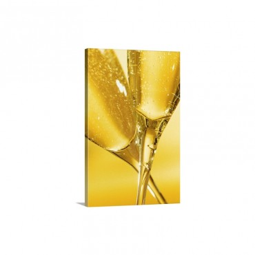 Glasses Of Champagne Wall Art - Canvas - Gallery Wrap