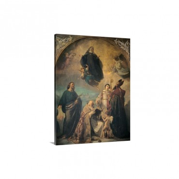 Glory Of Saint Verdiana By Annibale Gatti 1858 1864 Florence Italy Wall Art - Canvas - Gallery Wrap