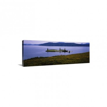 Golf Course In A Lake Floating Golf Green Coeur D'Alene Resort Coeur D'Alene Kootenai County Idaho Wall Art - Canvas - Gallery Wrap