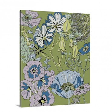 Graphic Garden I Wall Art - Canvas - Gallery Wrap