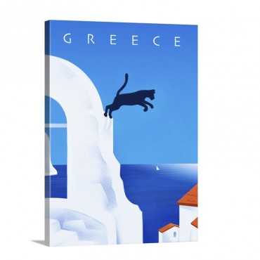 Greece Wall Art - Canvas - Gallery Wrap