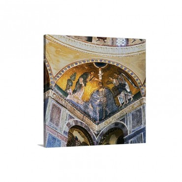 Greece Boeotia Ossios Loukas Monastery Mosaic Baptism Of Jesus Wall Art - Canvas - Gallery Wrap
