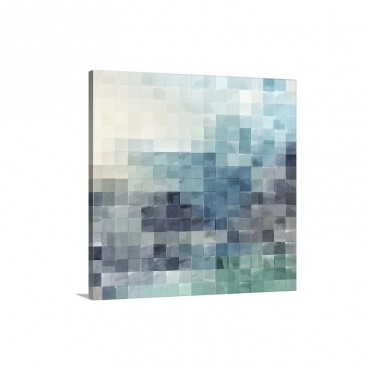 Gridded Watercolor Landscape A Wall Art - Canvas - Gallery Wrap