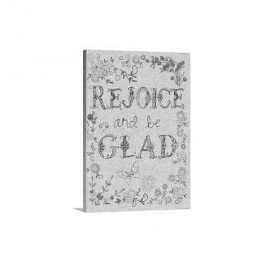 Hand Stitched  Rejoice Wall Art - Canvas - Gallery Wrap